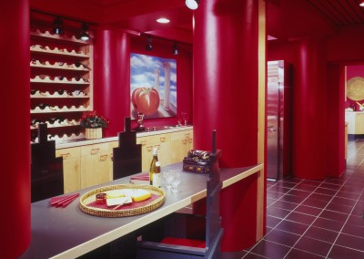Brookville Showhouse Red Kitchen